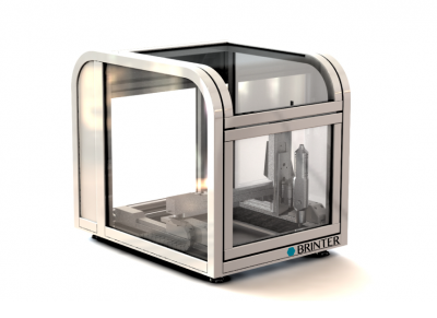 brinter 3d bioprinter reflected grey - bioprinters - applications of bioprinting - bioprinting applications - bioprinting benefits