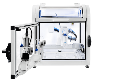 Brinter - Revolutionary Bioprinter - Modular Bioprinting _front_open - bioprinting applications and bioinks - 3d bioprinting solutions